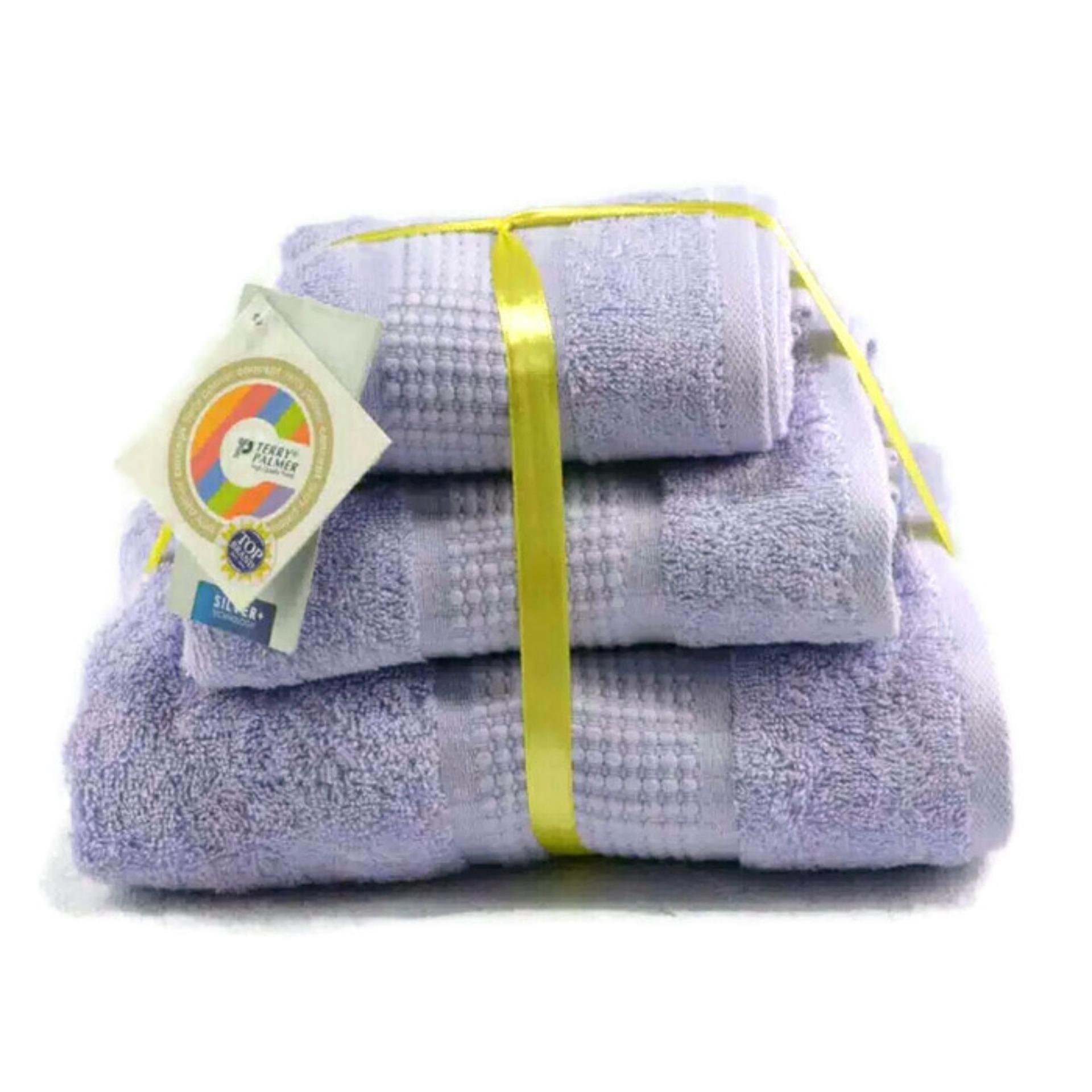 Handuk Mandi Terry Palmer Terbaru Exclusiv Combed Cotton Anti Bacterial Isi 3pcs