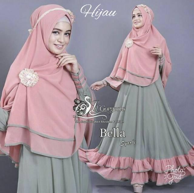Vshop91jkt - Syari Bella Gamis Bella Baju Muslim Setelan Muslim Dress Muslim Pakaian Muslim Pakaian Wanita Baju Wanita Baju Kerja Baju Kantor Dress wanita Dress Panjang Longdress Wanita Celana Wanita Cardigan Wanita Blazer wanita