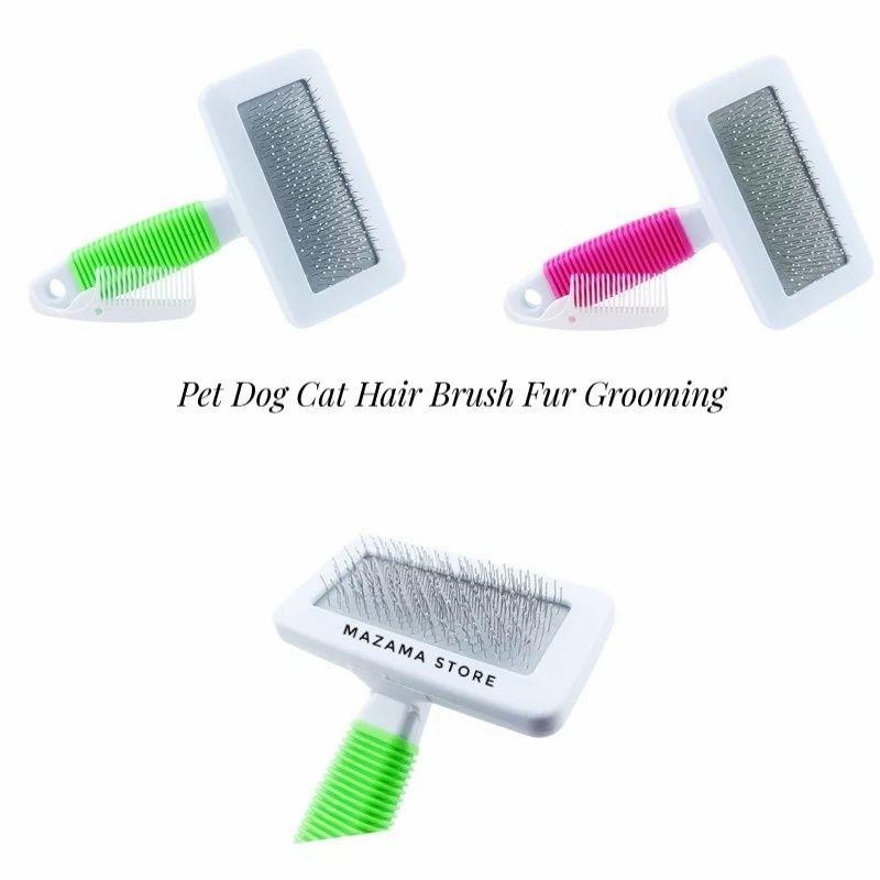 2 Pcs Pet Dog Cat Hair Brush Fur Grooming Trimmer Comb Pet Slicker Brush Random Colors / Pet Products Dog Cat Accessories / Sisir Untuk Kucing / Sisir Untuk Anjing / Sisir Kutu Untuk Kucing Dan Anjing / Pet Comb Tick And Flea Cat And Dog