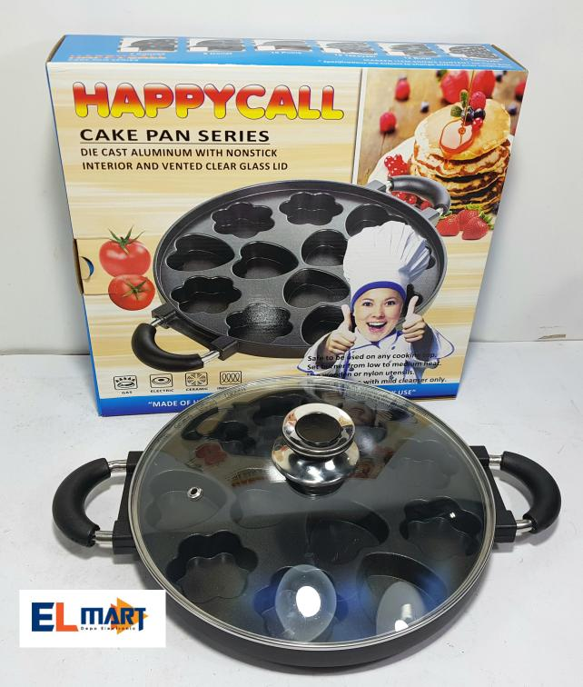 Happy call cetakan kue cubit 12 variasi/wajan loyang apem snackmaker