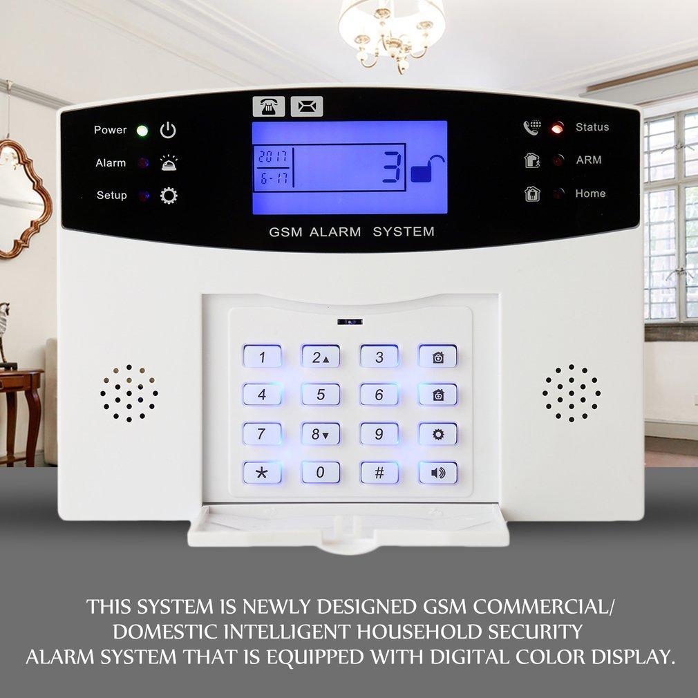 KAKA GSM Alarm sistem Kit terpencil Prompt LCD Display Alarm suara untuk Home Office putih kita pasang