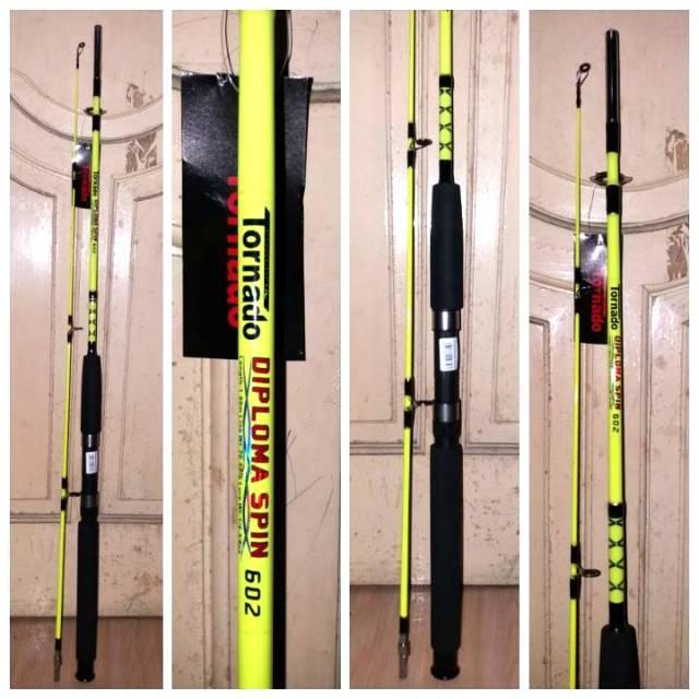 Joran KHUSUS LAUT Fiber glass TORNADO DIPLOMA panjang 1,8 meter kekuatan 25 Kg