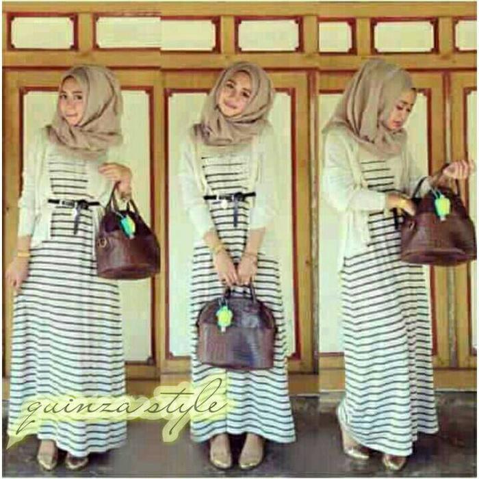 Hijab Zaskia Stripe 4In1