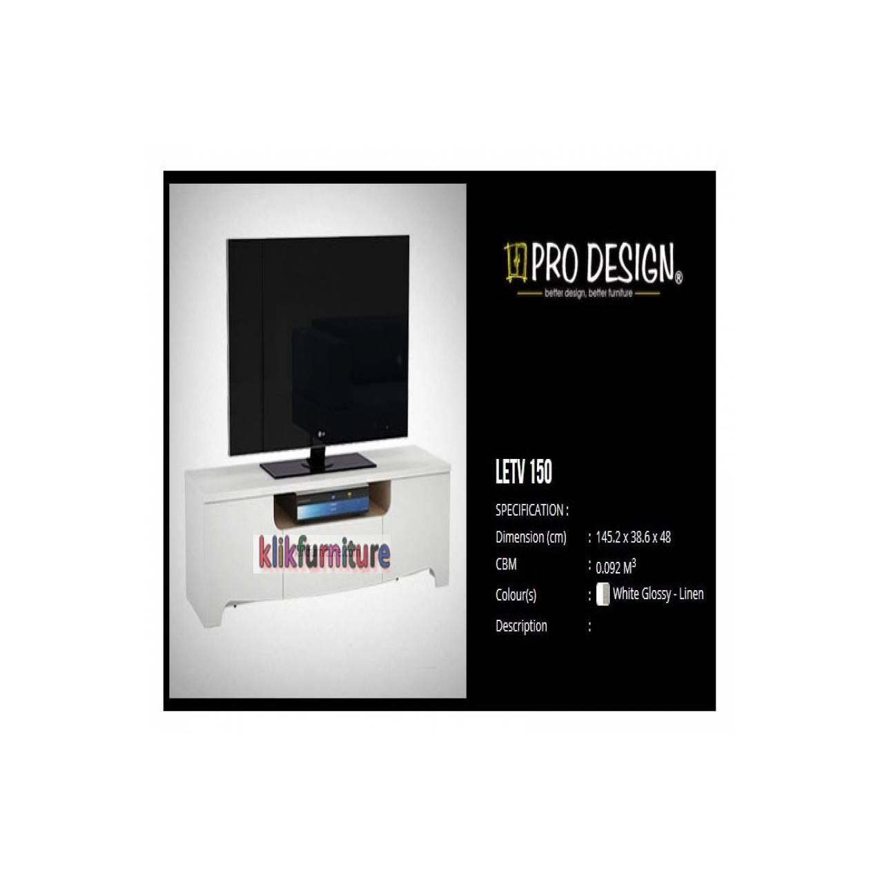 Buy Sell Cheapest Pro Design Legia Best Quality Product Deals Lemari Pakaian 3 Pintu 2 Laci White Glossy Linen Letv 150 Prodesign Bufet Tv Minimalis Putih