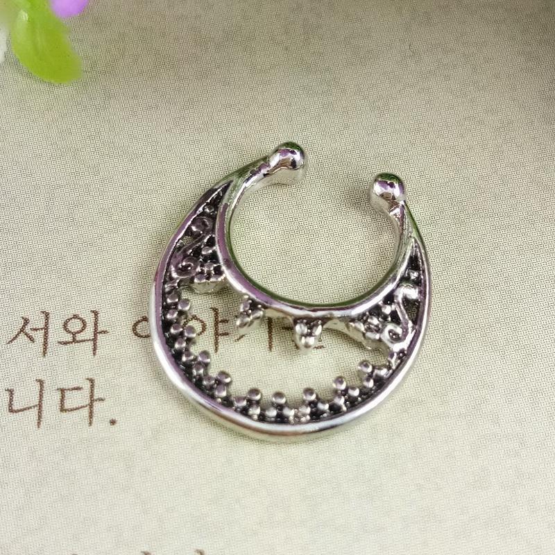 Anneui - BP0038 - fake septum piercing / anting jepit hidung (tanpa tindik) swag keren gaul kpop korea bollywood