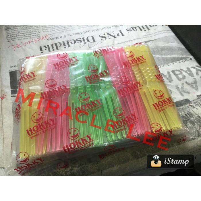 Garpu Plastik Kecil Utk Pesta & Tusukan Kue - 72Xrzd