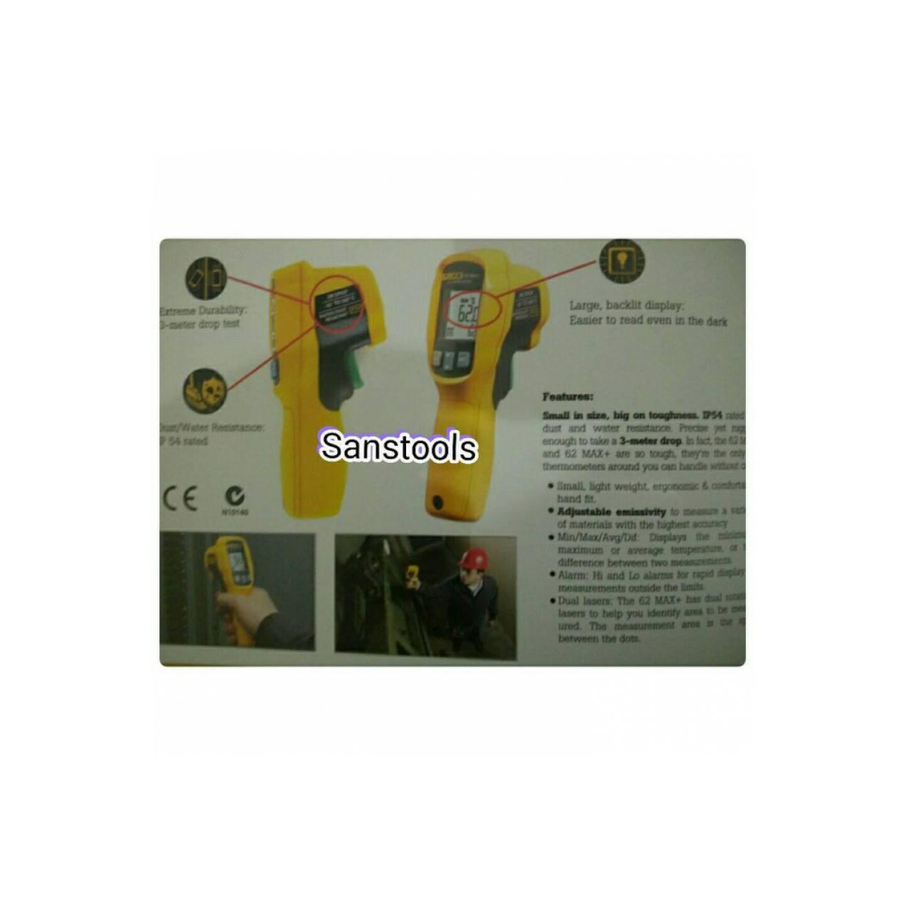 FLUKE 62MAX+ INFRARED THERMOMETER 650C ORIGINAL 100%