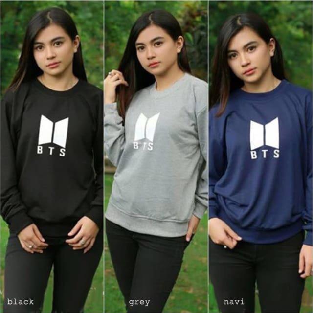 DAMAI FASHION JAKARTA - baju atasan sweater wanita LOUISE BTS 3 warna - KONVEKSI BAJU MURAH
