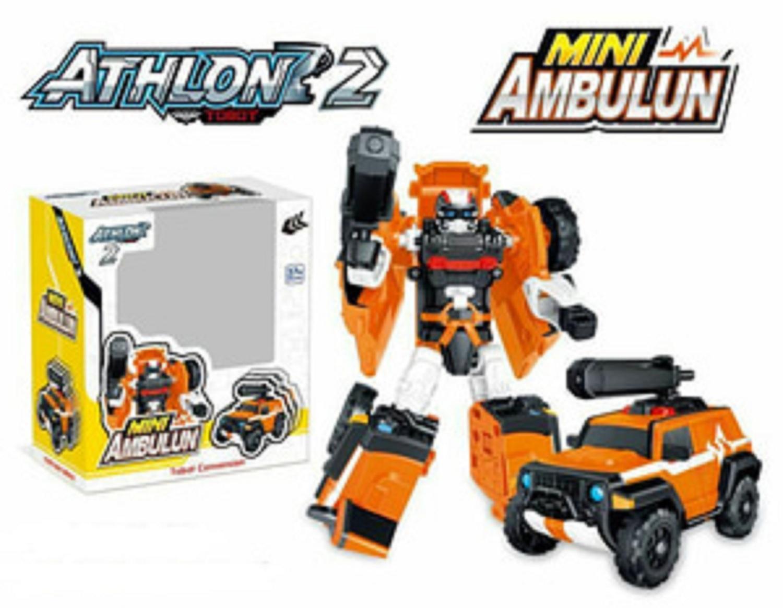 [ ] Tobot Athlon 2 Mini Ambulun Generasi 2 Transformer Mainan Anak
