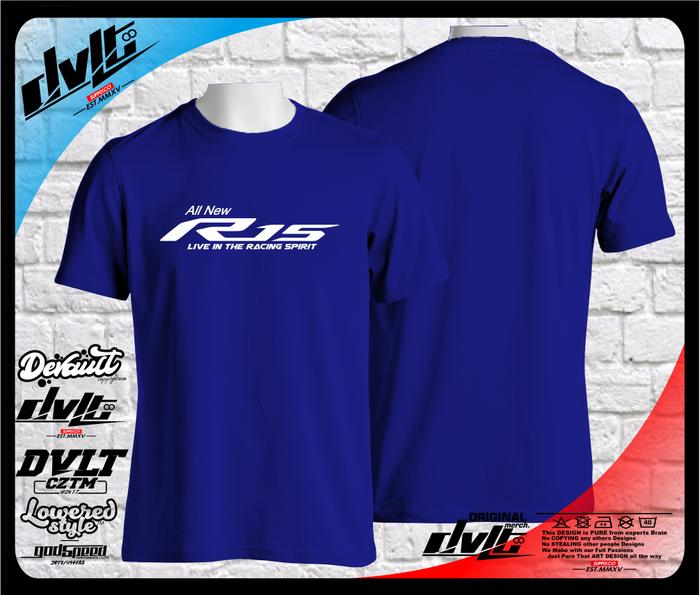 Kaos / T-Shirt Yamaha All New R15 Logo Murah