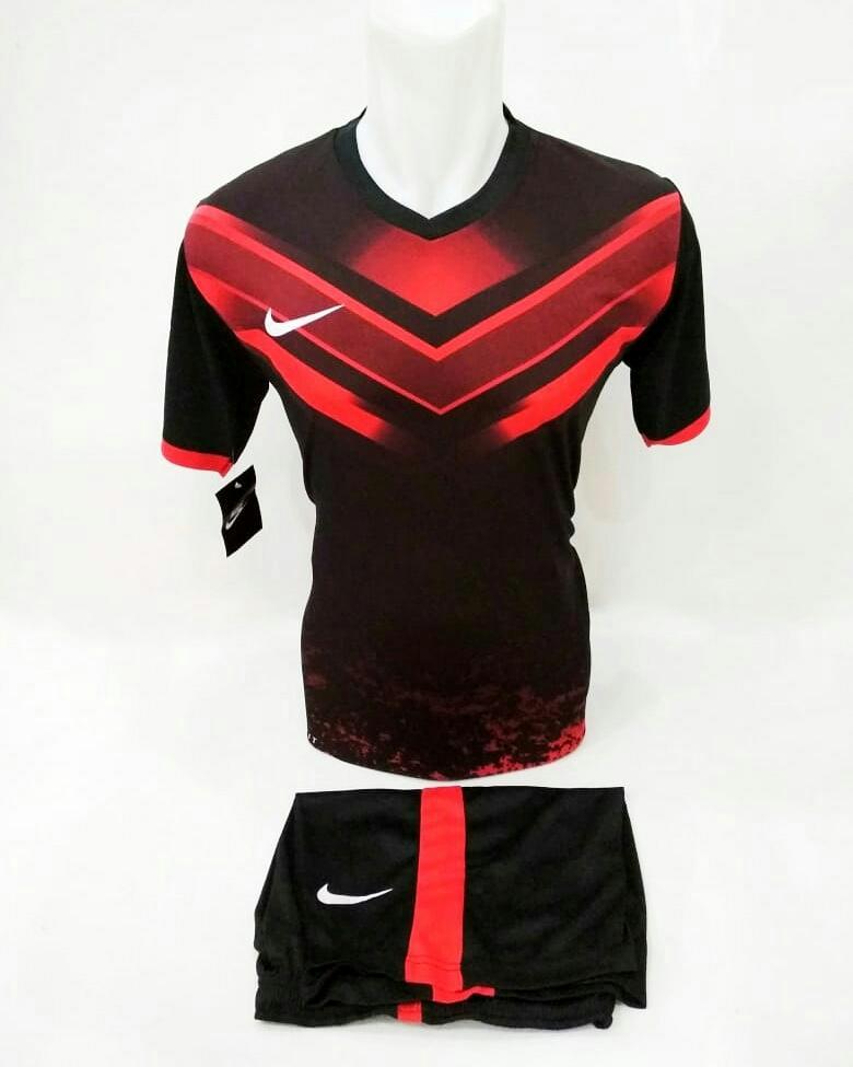 Baju Kaos Olahraga Jersey Bola Setelan Futsal Volley Printing Nike 23 Merah
