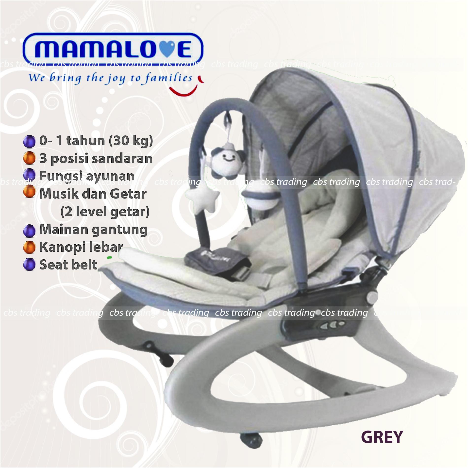 Mamalove Activity Rocker Select UC40 - Baby Bouncer - Kursi Goyang Bayi - Abu-abu