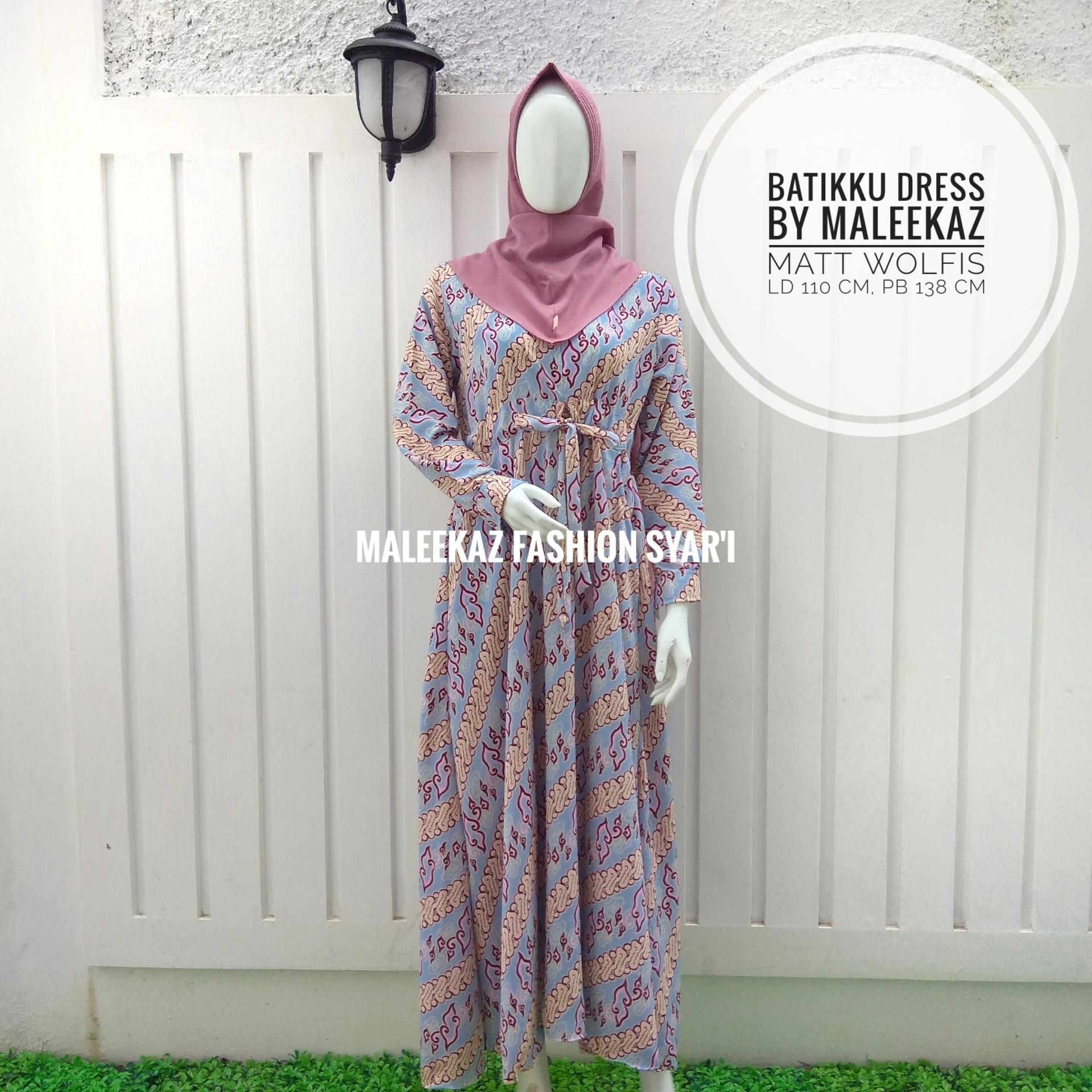 MaleekaZ Fashion Syari Dress Muslimah Hijab Muslim Gamis Wanita Syari Baju Muslim