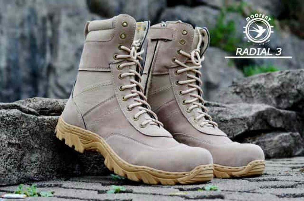 Jual sepatu boots pria moofet radial  Fashion