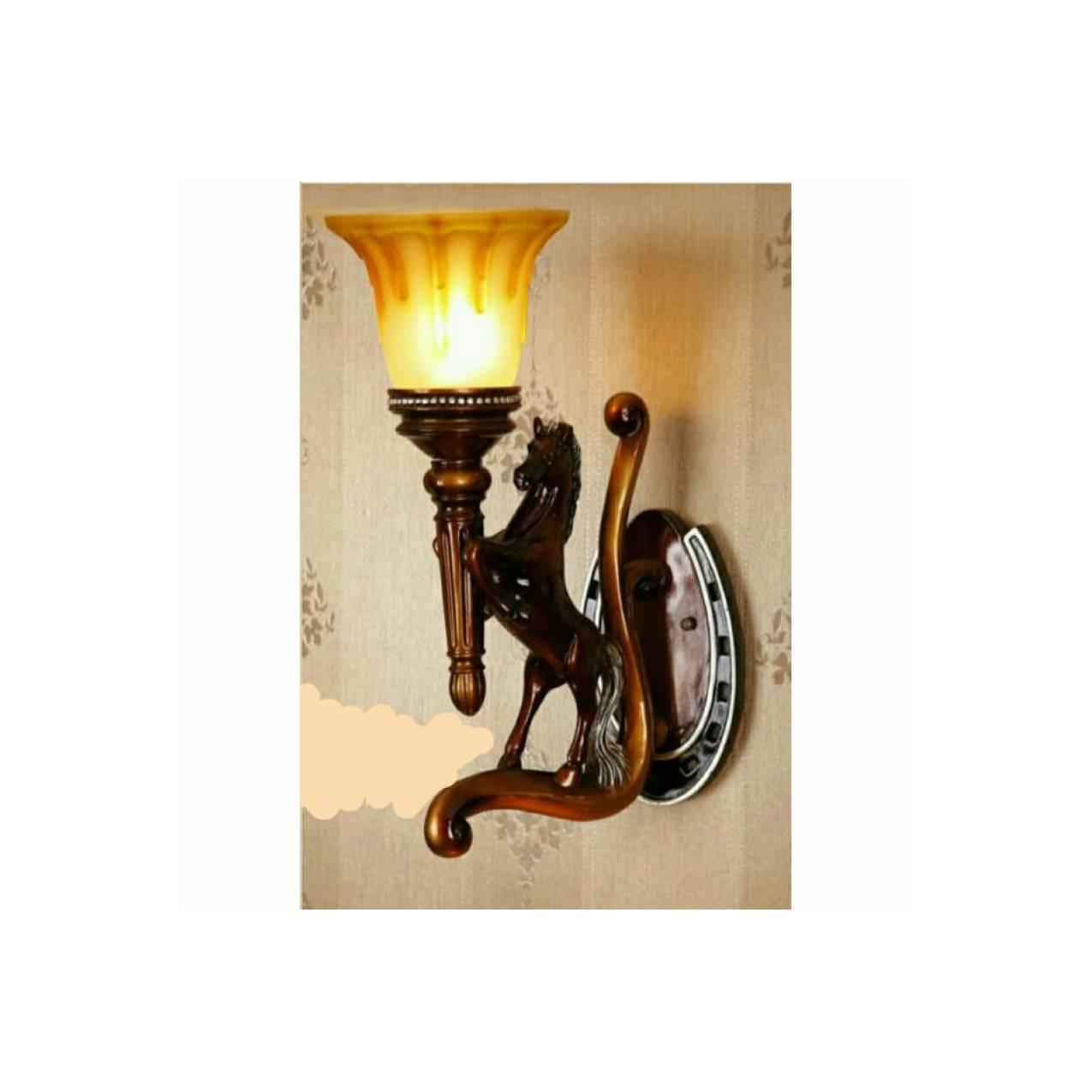 lampu hias tembok dinding classic model kuda design bagus antik
