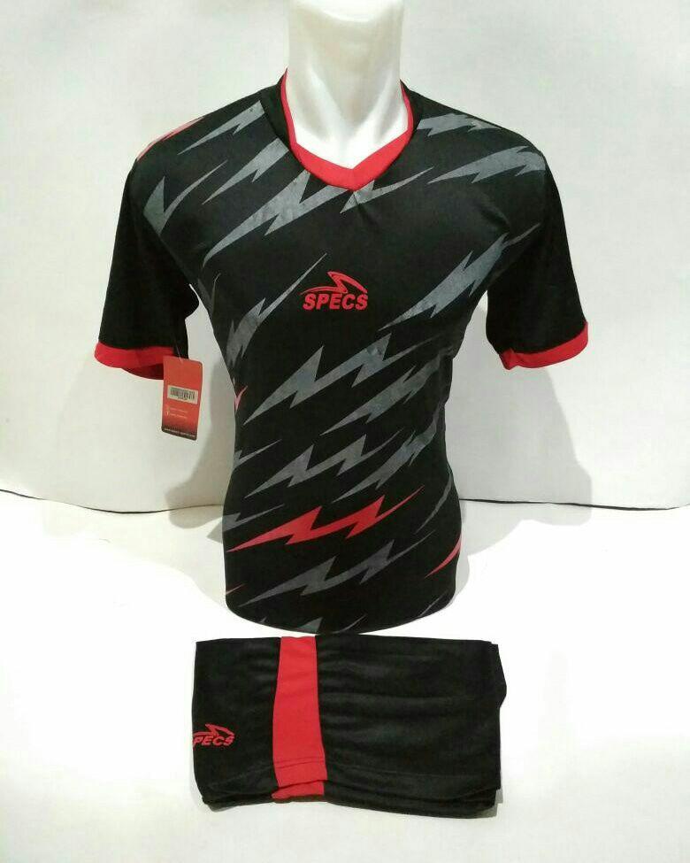 Baju Kaos Olahraga Jersey Setelan Bola Futsal Voli Spc 09 hitam merah