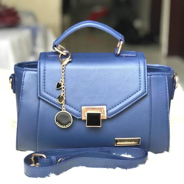 Tas wanita cewek branded handbags Charles n Keith CK Ashanty Navy - xEaGBQ