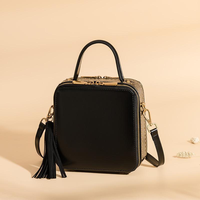 6e1af4e2e8bb Fashion Leather Crossbody Shoulder Bag Small Square Bag Rivet Retro Handbag