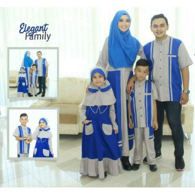 SRE02 | Couple branded seragam keluarga terbaru sarimbit muslim baju koko gamis ayah ibu anak murah Gamis Ibu XXL