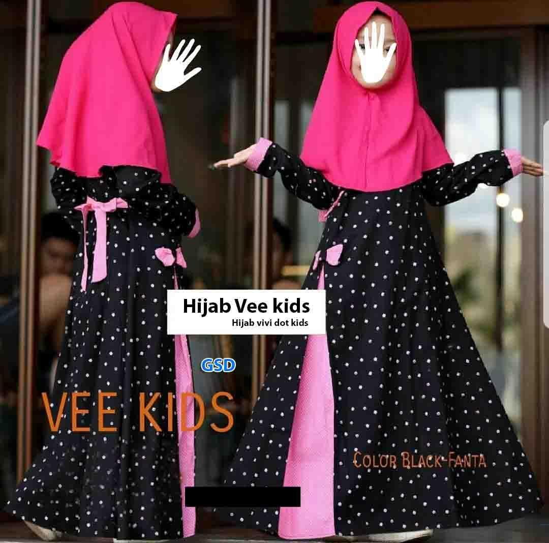 The Cheapest Price Gsd Baju Anak Gamis Muslim Long Dress Cewek Hijab Vivi Kids