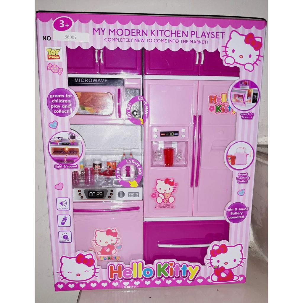 Mainan Modern Kitchen Set Hello Kitty / Dapur dapuran / Masak masakan