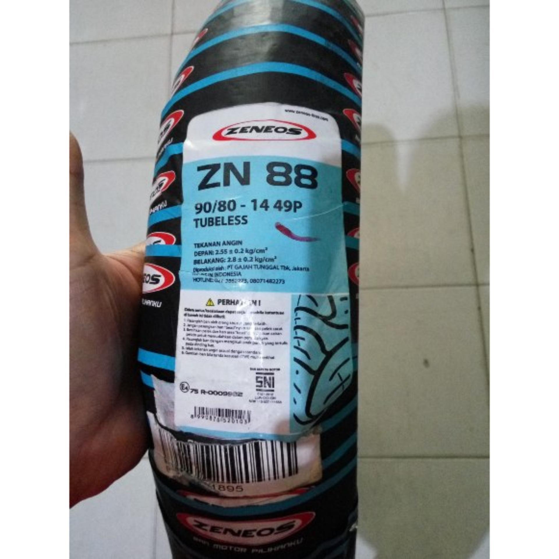 Zeneos Zn 61 908 Daftar Harga Terkini Terlengkap 75 90 80 14 Ban Motor Tubeless Detail Gambar 88 Metic Bonus Pentil