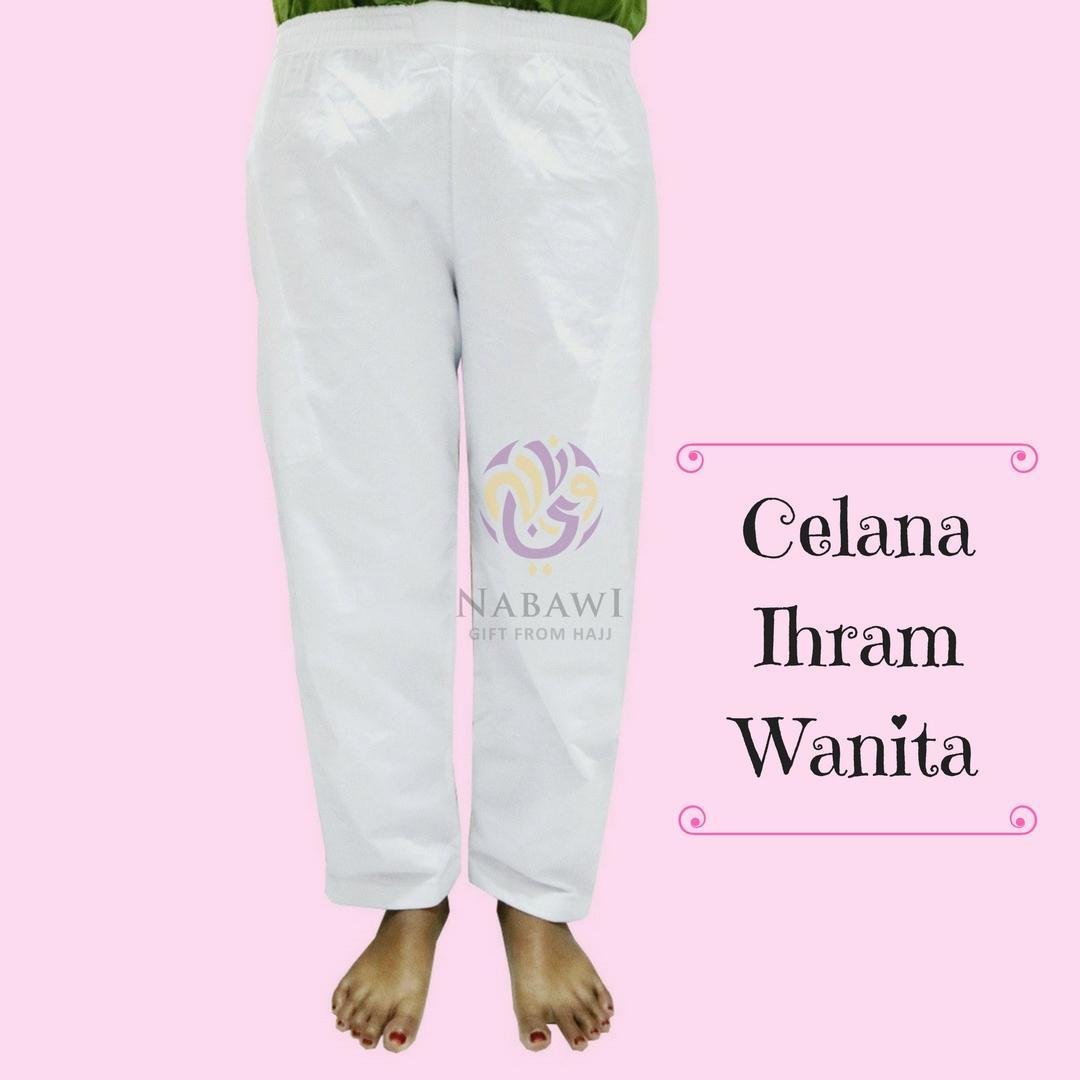 Celana Ihram Ihrom Wanita Panjang Bahan Katun Putih Polos Perlengkapan Haji dan Umroh