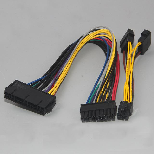Kabel PSU 24Pin Female to 18Pin Male + Dual Molex to 6Pin for HP Z600