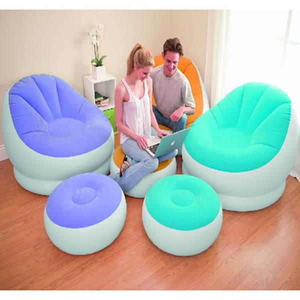 Intex Cafe Chaise Chair Lounge Seat Ottoman. Sofa Angin Pompa Tiup