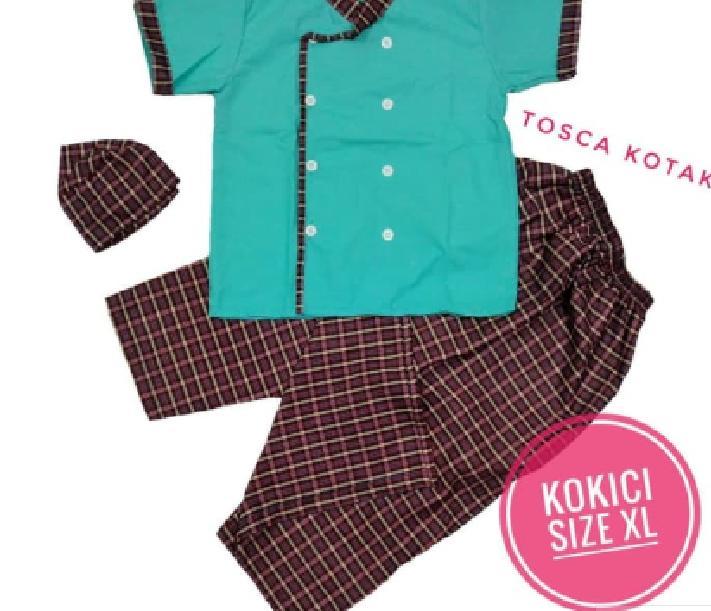 KOKICI Size XL Koko Anak Sarung Celana Peci Model Koki Usia 4-5 tahun