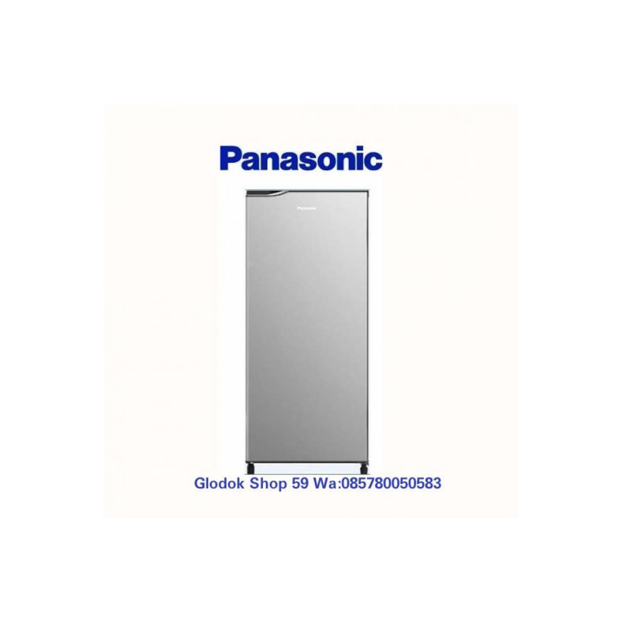 KULKAS PANASONIC NR-AF199 N/SS ALOWA GLASS TRAY 1 PINTU SILVER NEW