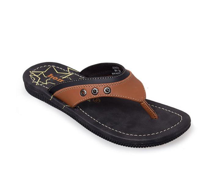 Homyped Junior 01 Sandal Jepit Casual Anak - Camel/Brown