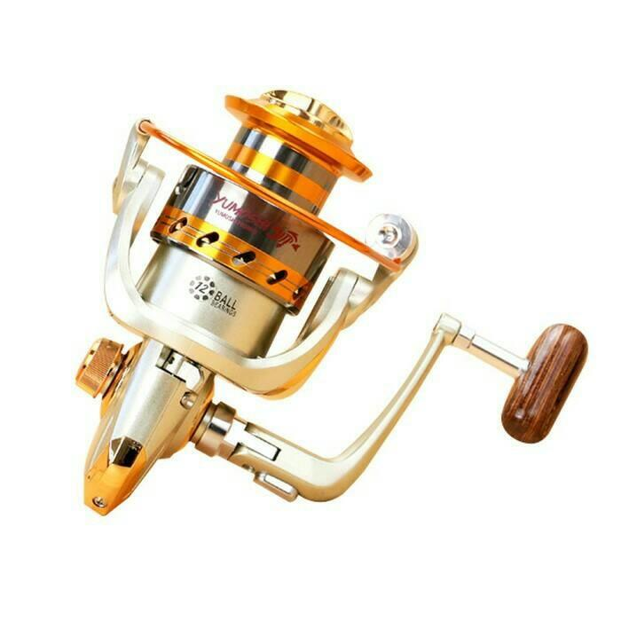 Pancing Yumoshi Reel EF6000 Metal Fishing Spinning Reel 12 Bal Bearing