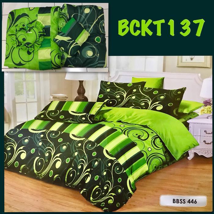 Super Hot -  Bedcover Set King Size Paling Murah Kode BANGSA-sprei135
