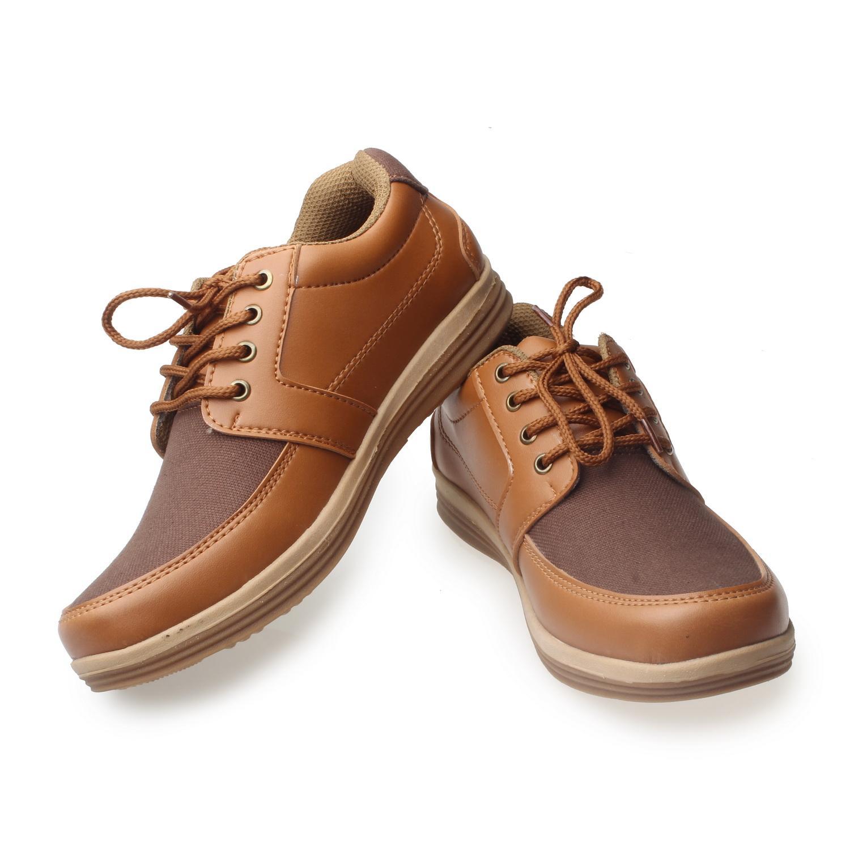 RK shoes sepatu kets sneakers dan kasual pria / sepatu kasual kanvas / sepatu sneaker pria / sepatu pria / sepatu sneaker murah /sepatu pria casual /sepatu pria kasual / sepatu pria kulit / sepatu pria murah  NR-  tan dan hitam