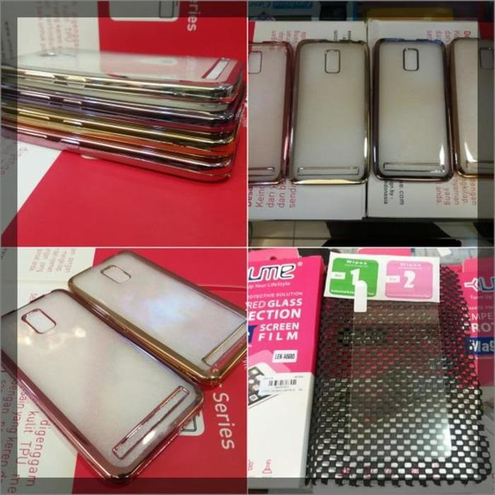 Paket 2In1 Case+Tempered Glass Lenovo A6600 Plus Softcase