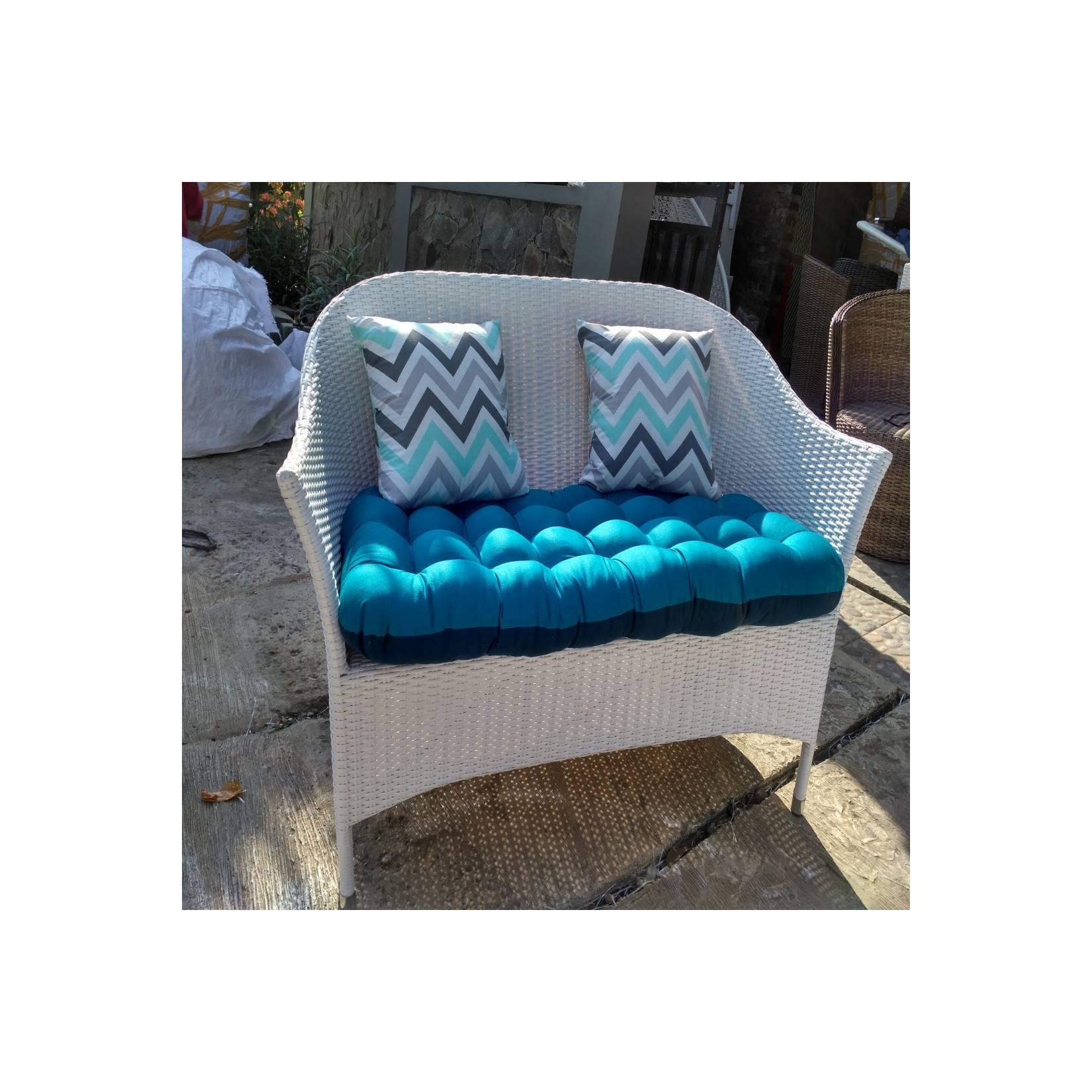 sofa loveseat oval rotan sintetis bogor cibinong