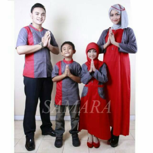 SR.B01 | Seragam keluarga sarimbit baju terbaru couple muslim koko gamis ayah ibu anak murah branded Gamis Anak No 13 &14