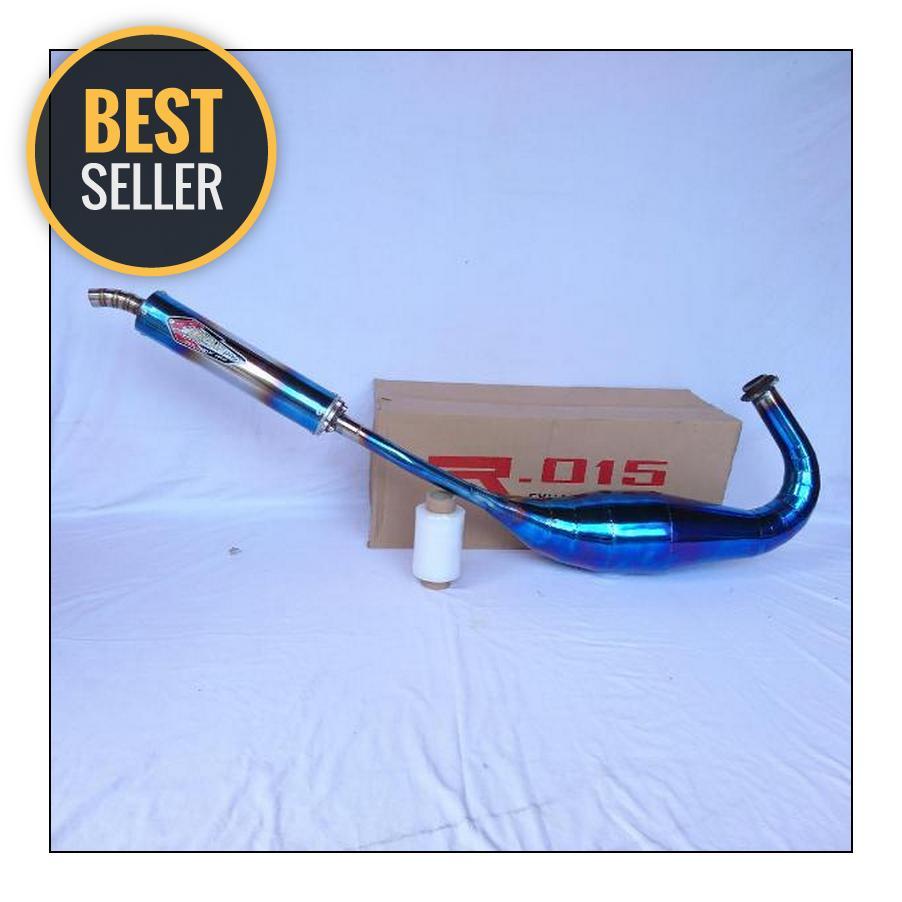 Knalpot Special Edition Creampie Blue Series Type Zz1 Full Set Ninja 150 R - RR - SS Plat Berkualitas Competisi - Harian