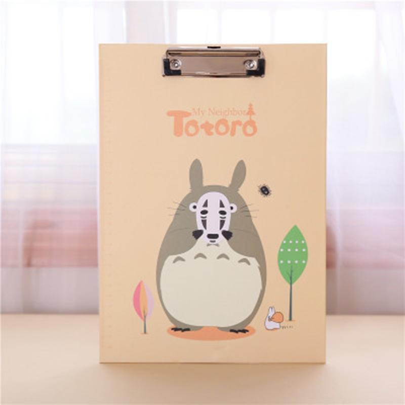 Mua Creative Totoro Folder Student Papers A4 File Folder Writing Board Clip File Kids Gift School Office Supplies - intl