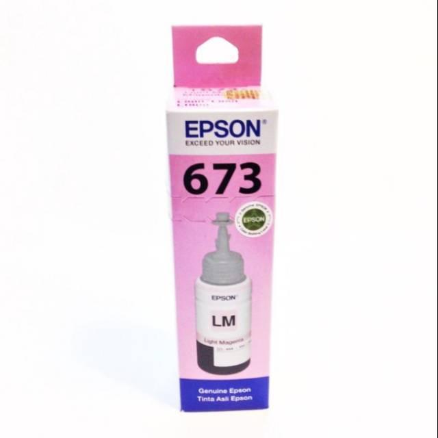 TINTA PRINTER EPSON 673 LIGHT MAGENTA ORIGINAL