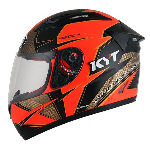 KYT RC 7 #16 Red Fluo Gold Black