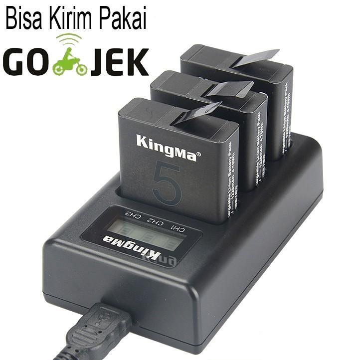 Kingma Charger Baterai 3 Slot GoPro Hero 5 - AHDBT-501