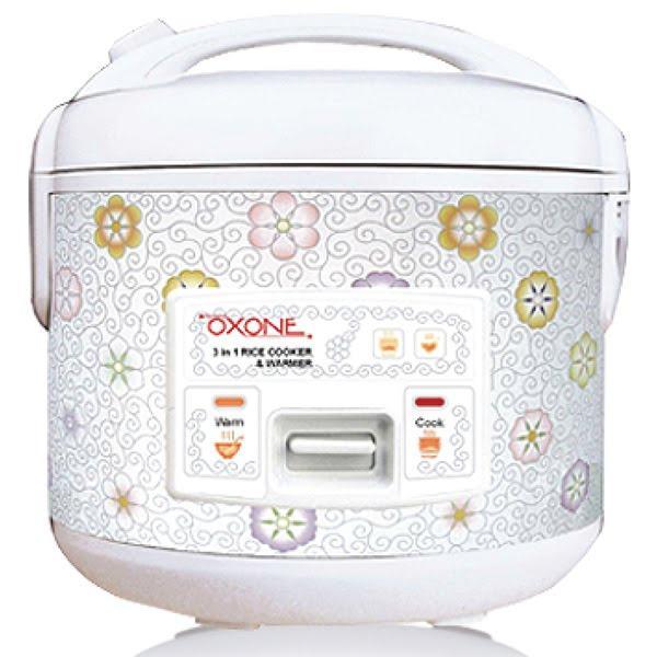 Oxone 3in1 Rice Cooker Peony Capacity 1.8 Liter (OX-818) || Rice Cooker ukuran 1.8L (Memasak + Mengukus + Menghangatkan)