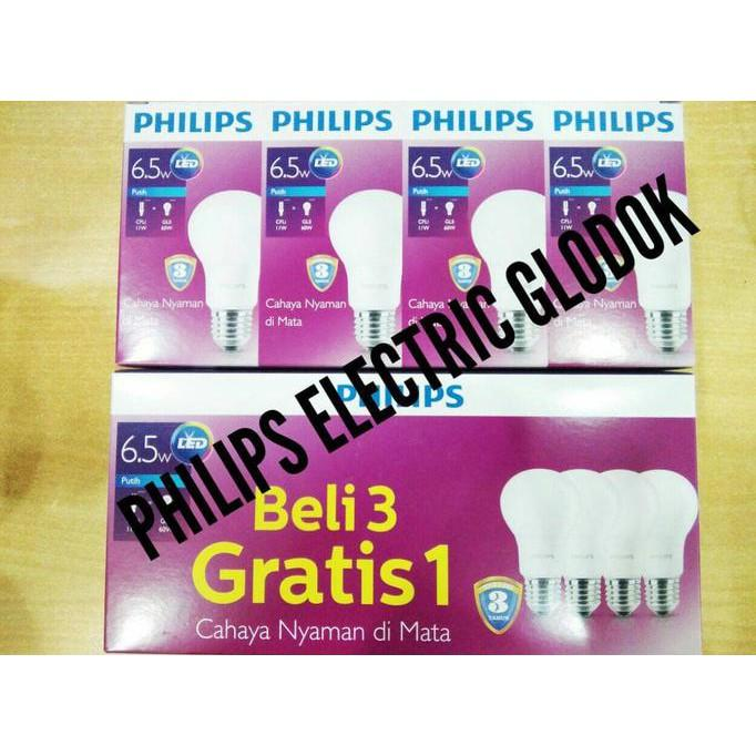 LAMPU LED PHILIPS 6.5 WATT 6.5WATT 6-5WATT 6-5