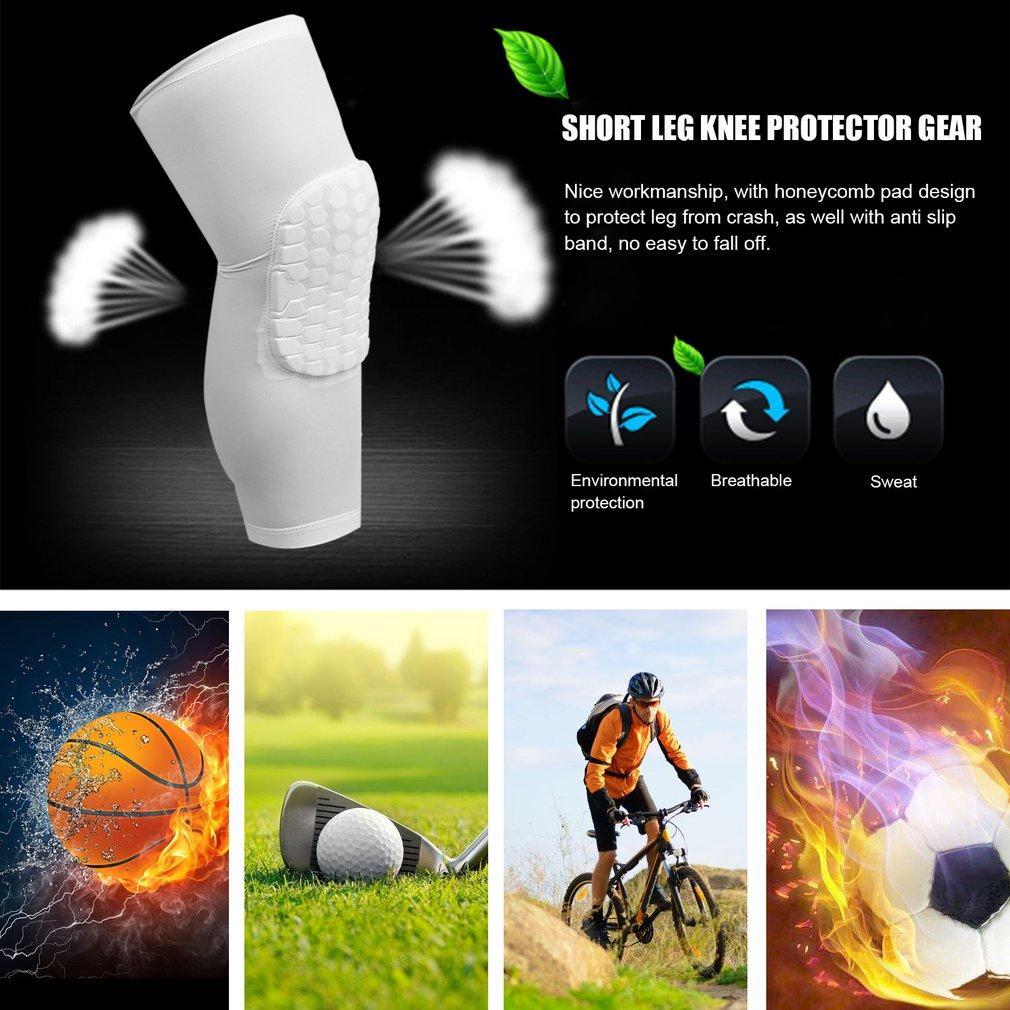... LALOVE Kids Adult Crashproof Pad Basketball Leg Knee Long Sleeve Protective Gear White M - 5