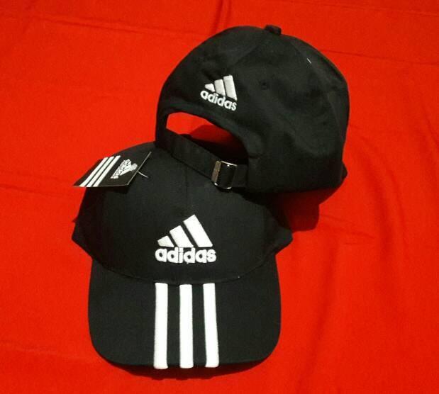topi sport adidas hitam PROMO