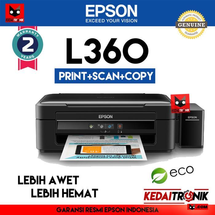 Printer Epson L360 All In One (Print+Scan+Copy) USB AIO L 360 Inkjet