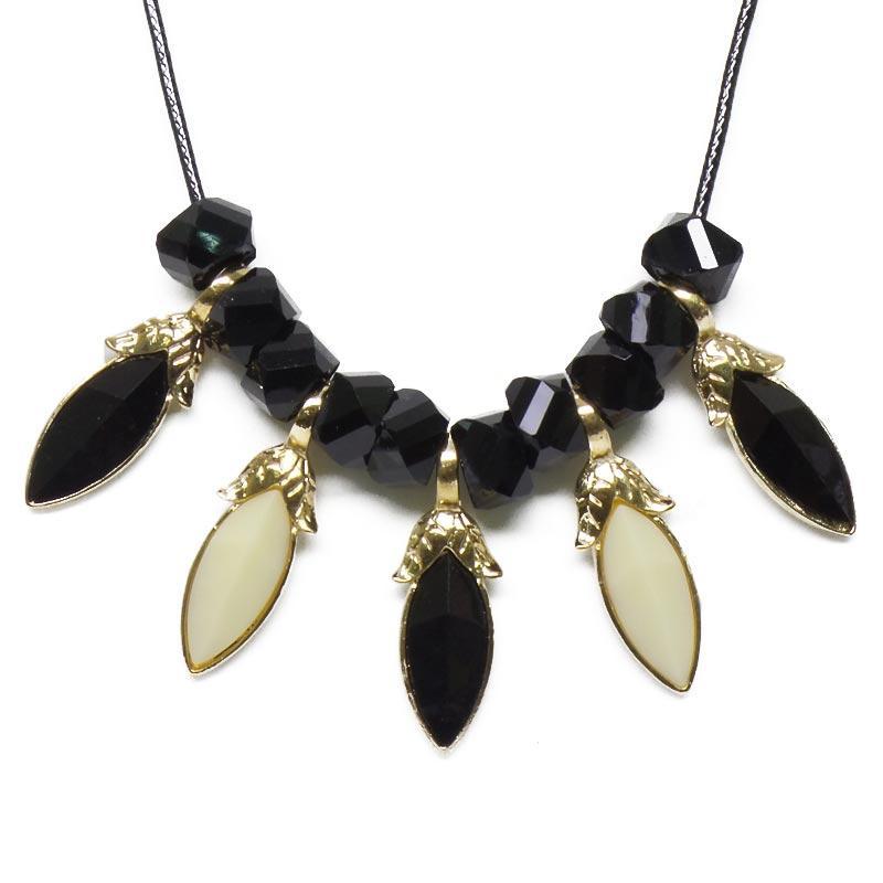Galeri Gambar OFASHION Aksesoris Kalung CA-180314-K012 Necklace Fashion Xuping Jewelry Hitam Warni