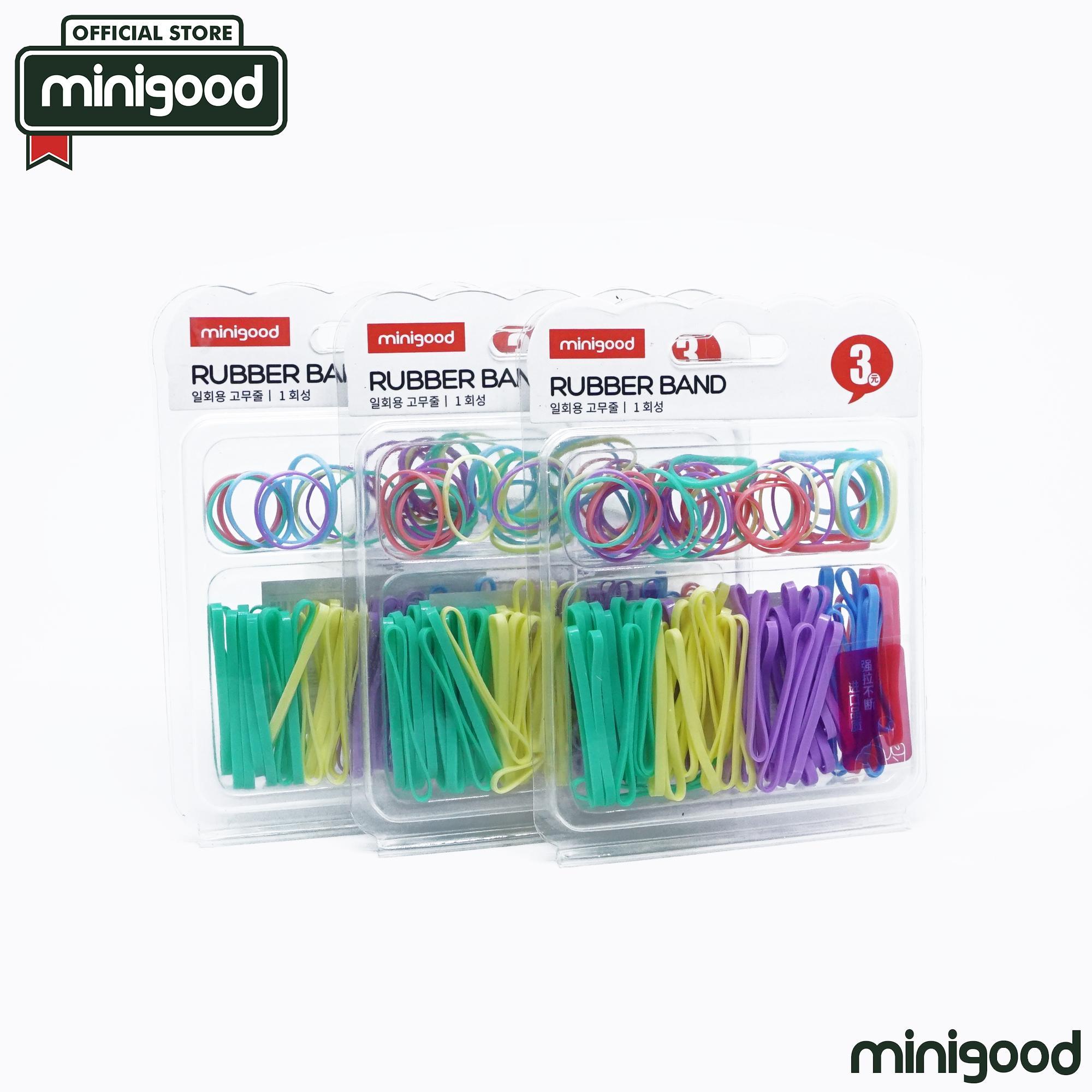 minigood NEW ITEM karet gelang rubber band ikat rambut elastis warna warni cocok dipakai sehari-hari